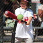 Player hitting a ball