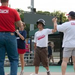Coach high-fiving player