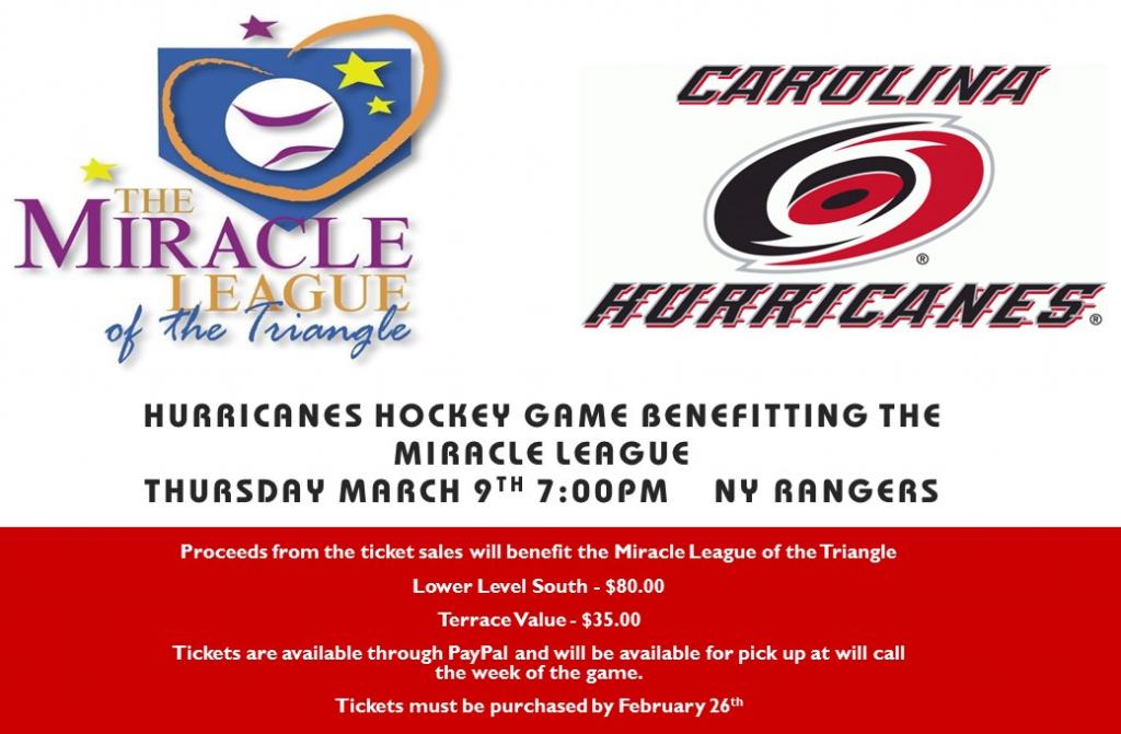 HurricanesHockeyGameBenefittingTheMiracleLeague