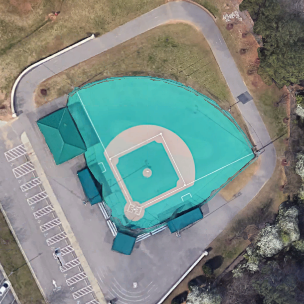 Aerial view of Cary Field